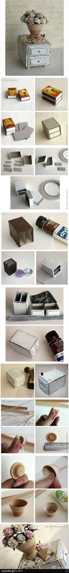 reciclagem usando caixas de fósforo