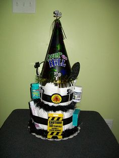 50th birthday Over-the-Hill Adult Diaper Cake