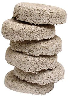 mosquito donuts - they float in water and keep mosquito larvae from maturing. A must for a water feature.