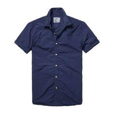 Scotch and Soda Navy Poplin Short Sleeve Shirt £60