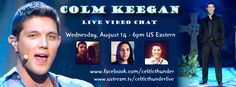 Colm Keegan upcoming live chat