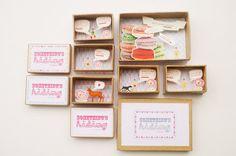 miniatur, idea, craft, paper, message boxes