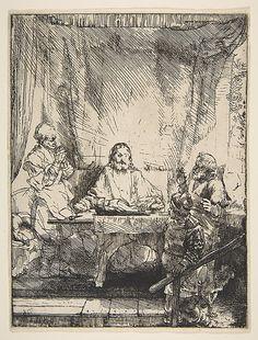 The Supper at Emmaus Rembrandt (Rembrandt van Rijn) (Dutch, Leiden 1606–1669 Amsterdam)