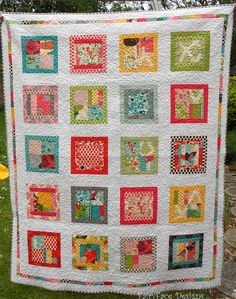 Walk in the Woods finished quilt full by Sarah @ FairyFace Designs, via Flickr