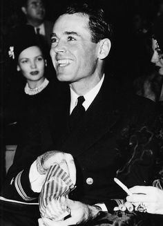 Henry Fonda home from the war, 1945.