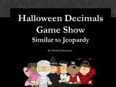 Halloween Decimals Game - Similar to Jeopardy from Differentiated Math Practice on TeachersNotebook.com -  (32 pages)  - This is Halloween themed game reviewing decimals.  The game is similar to Jeopardy.