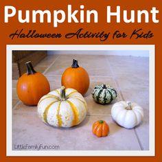 Pumpkin Hide & Seek. Easy Halloween activity for kids.