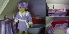 create your own bathroom vanity for American Girl Dolls