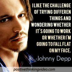 Johnny Depp #inspiration #quote