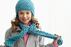 Croche Puff Stitch Hat and Scarf Pattern