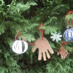 Fingerprint Christmas Ornaments | craft 3 homemade christmas ornaments christmas crafts child made cards