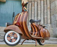 Custom Wood Vespa. I'd ride that.