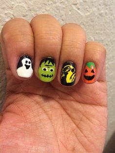 Halloween Nail Art by mayH - Nail Art Gallery nailartgallery.nailsmag.com by Nails Magazine www.nailsmag.com #nailart