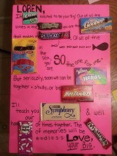 Candy Board Alpha Chi Omega Big Little