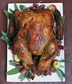 Bourbon-Glazed, Spice-Rubbed Turkey Recipe