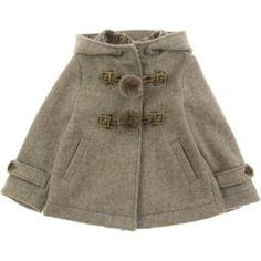 Fendi Junior Girls Beige Wool Coat With Fur Toggles