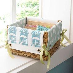 Tied together basket liner, instructions given