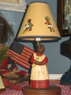 Antique Collectible Original Aunt Jemima Lamp!!   by SimpleTinyTreasures