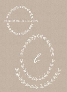 Free Photoshop Brush - Hand drawn wreaths from Besotted