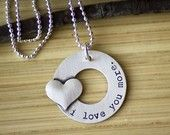 Sterling Silver Open Circle Washer with Soldered Heart by tagyoureitjewelry on etsy