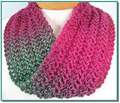 Infinity+Scarf+knitting+pattern+Knit+Lace+Easy+for+by+KnittyDebby,+$3.50