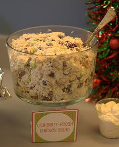 Cranberry pecan chicken salad -