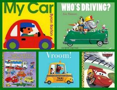 cars books and car play/art/snack ideas