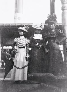 Three African American women at the state fair 1903