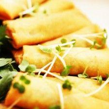 Homemade Low-Fat Vegetarian Baked Spring Rolls Recipe