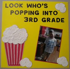 Jean's Crafty Corner: Popping into 3rd Grade