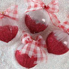 Cute DIY Shimmery Ornaments | FaveCrafts.com