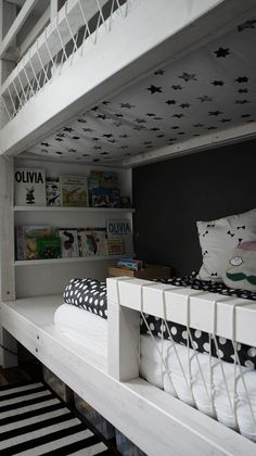 Love the fabric under the bed! My mother did this for us, as kids and I can still remember the pattern --- annipalanni: Neues im Kinderzimmer