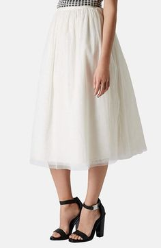 Topshop 'Ballerina Prom' Tulle Midi Skirt available at #Nordstrom