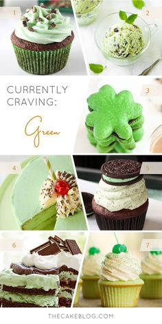 Currently Craving Green | 7 delightfully green dessert recipes for St. Patrick's Day