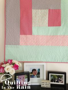 Quilt as you Go Log Cabin Tutorial - Quilting In The Rain #baby