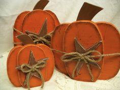 Primative Pumpkins. $25.00, via Etsy.
