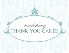 Printable Wedding Thank You Cards, Customize your own to match. $10.50, via Etsy.