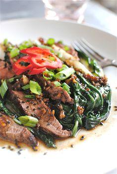steak and bok choy. yum!