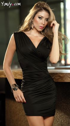 Wide Sleeve Mini Dress
