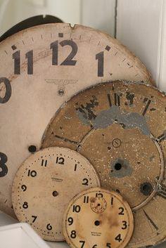 Antique clock faces
