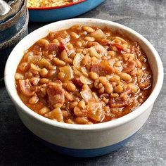 Baked Beans 'n Bacon, a recipe from Triangle Ranch B in South Dakota.