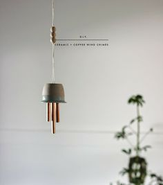 Poppytalk: DIY | Ceramic & Copper Wind Chimes