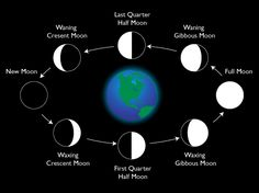 printable diagram of the phases of the moon | The Diagram below shows the 8 phases of the Moon.