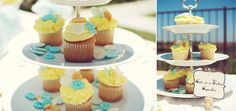 cute as a button baby shower, cupcakes, boy or girl