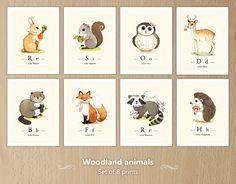Woodland animals wall art set by {JooJoo}, via Flickr
