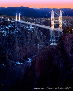 The Royal Gorge in Colorado.  I love it... used to live in Colorado and have been there!  Beautiful!