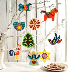 A pattern for making their own tree-ful of ornaments.