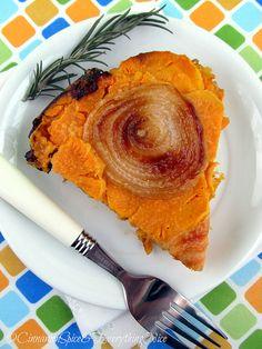 Upside Down Sweet Potato and Onion Tart