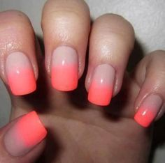 Hot pink ombre mani
