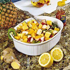 9 Fresh Fruit Salad Recipes | Ginger-and-Lemon Fruit Salad | SouthernLiving.com